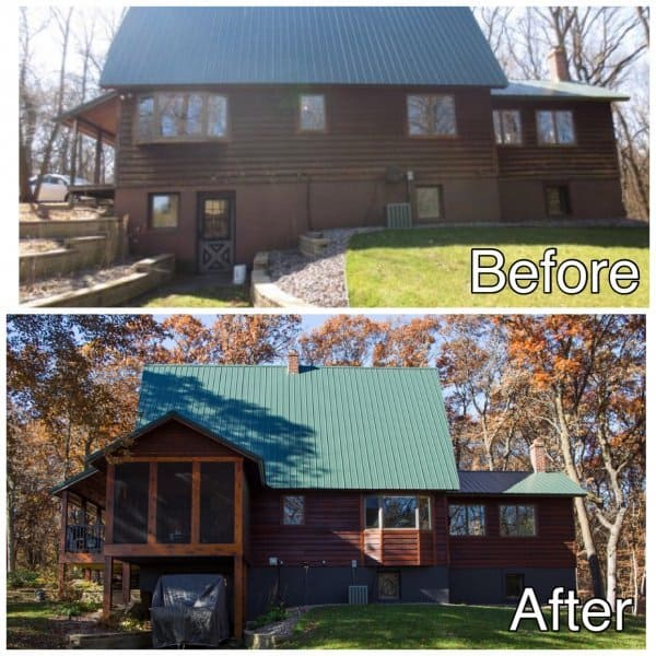 Room Addition Before and After