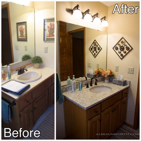 Bath Remodel before and after