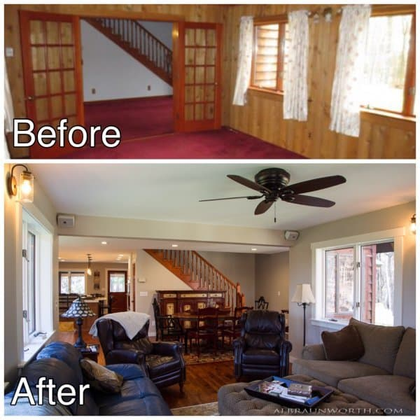 Living Room Remodel Before and After