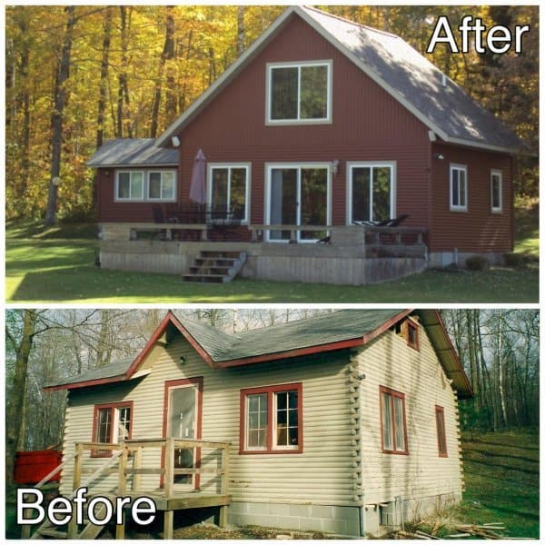 Cabin-Before-and-After-Hillman-Mn