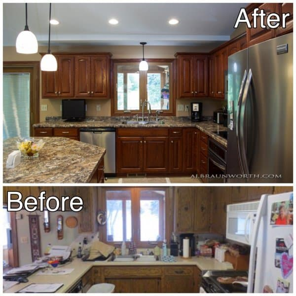 Kitchen Cabinets Before and After Clearwater MN2