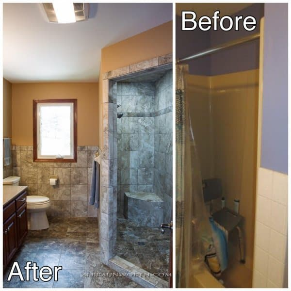 Walk-in-Tiled-Shower-Before-and-After