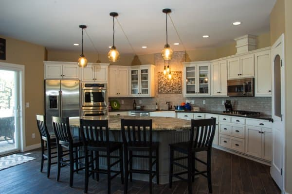 Patio Home Custom Kitchen Sartell MN by Custom Home Builder Craig Schoenberg