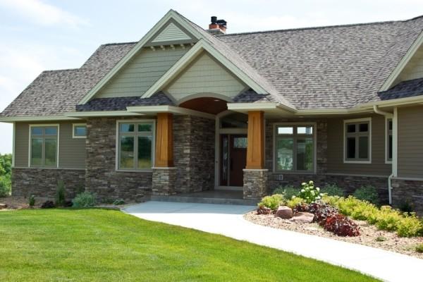 Custom Home Front Entrance