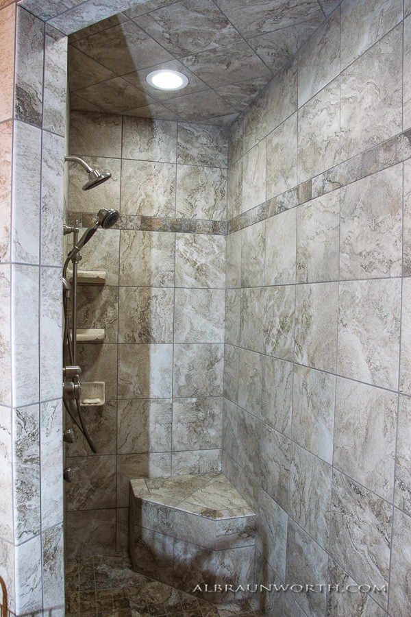 Tiled Walk in Showers St Cloud MN