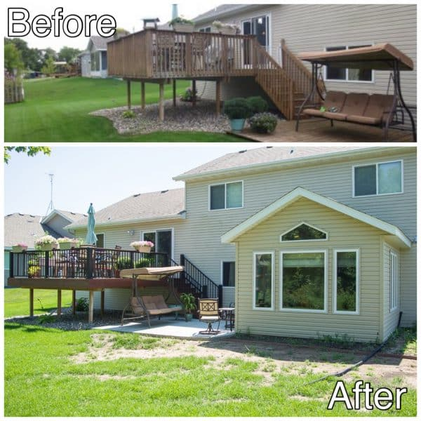 Deck Replacement and Room Addition Sauk Rapids MN