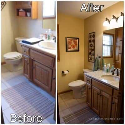 1 - bath before and after