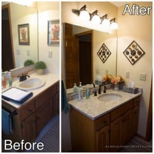 2 - bath before and after