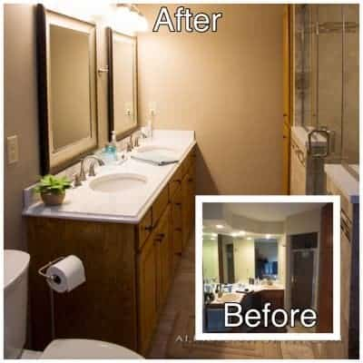 5 - Master bath before and after