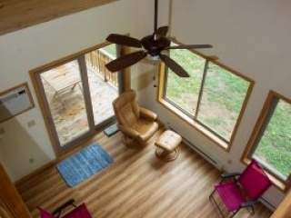 Sartell MN Cabin Loft looking down to dining
