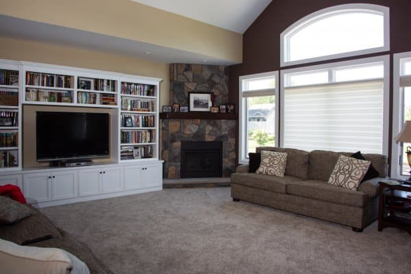 Patio House Living Room, Sartell MN by Schoenberg Construction