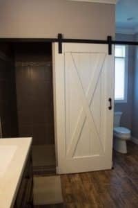 Patio House Master Bath Custom Doors, Sartell MN by Schoenberg Construction