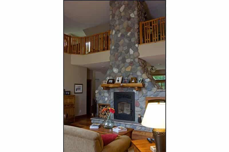 Rustic Home Stone Fireplace