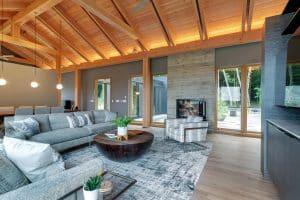 Custom Home Living Room Fireplace