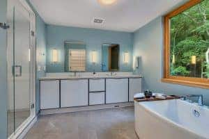 Custom Home Master Bath double vanity