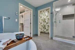 Custom Home Master Bath with tub and walk in shower