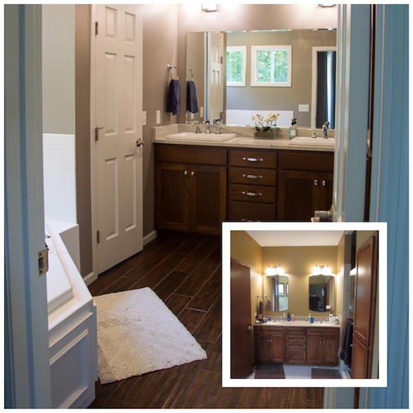 Master Bath Remodel Before and After