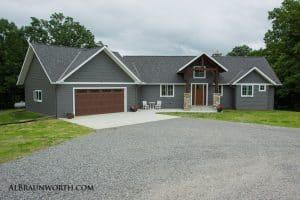Custom Home front exterior