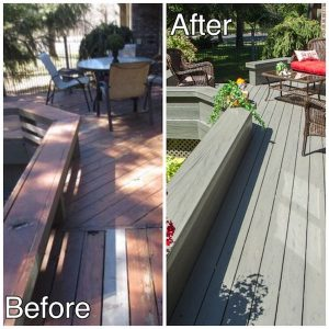 1 - before and after maint free decking