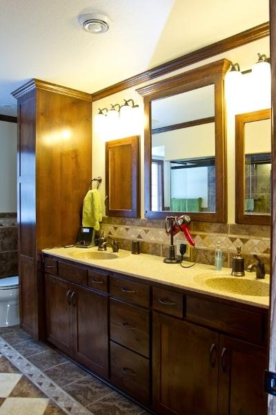 Custom Master Bath Double Vanity
