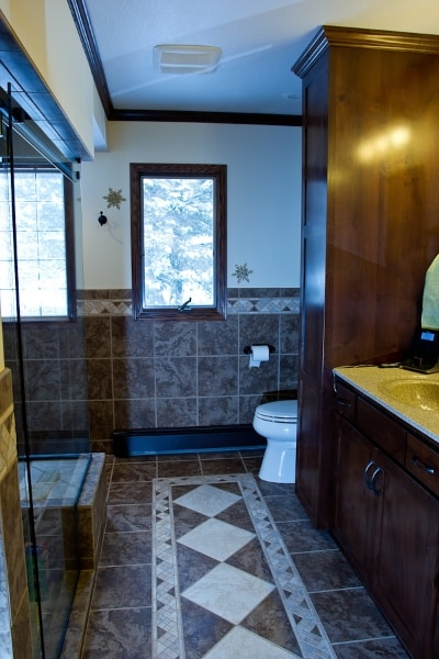 Master Bath After with custom Tile