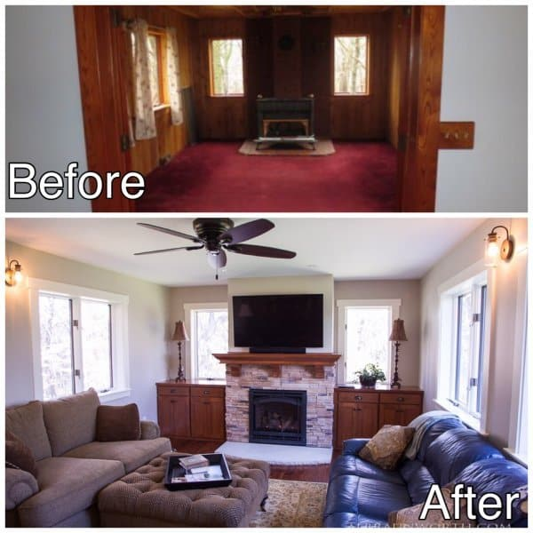 Living Room Remodeling Before and After