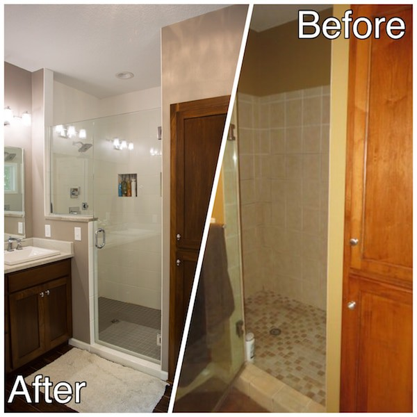 New Glass Shower Bath Remodeling