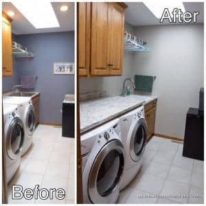 Laundry Room before and after pictures