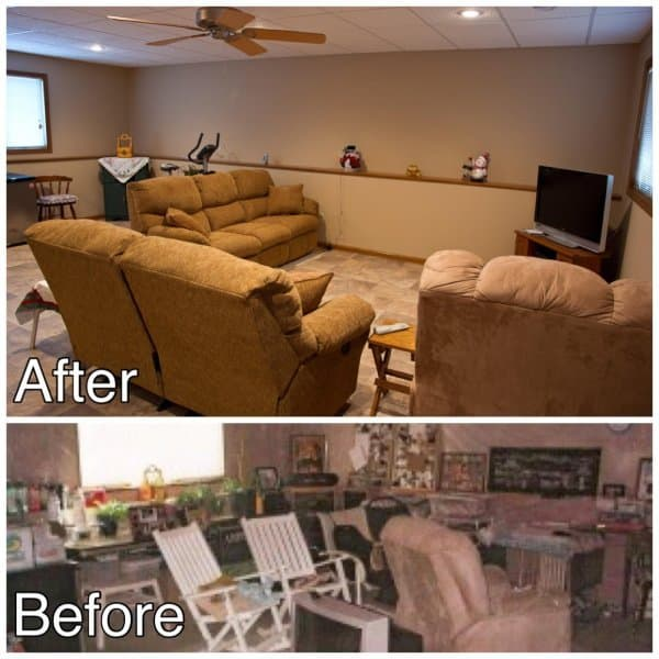 Basement Finish Before and After Sauk Rapids MN