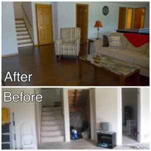 Basement Before and After Photo