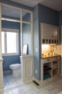 Bath remodel after tile floors