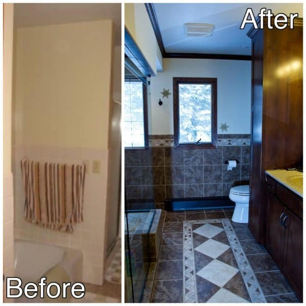 Ceramic Tile Master Bath Room