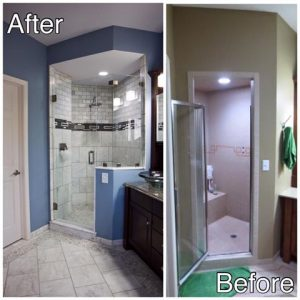 Custom New Shower with Glass Door Sartell MN