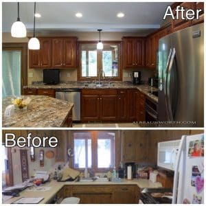 Kitchen Cabinets Before and After Clearwater MN