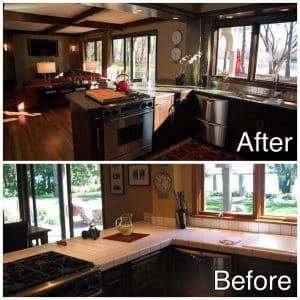 Kitchen Remodel Before and after Sartell MN