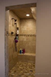 Master bathroom ceramic shower