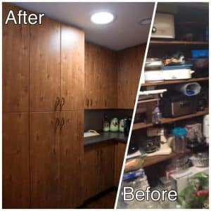 Pantry Before and After Remodel Photos