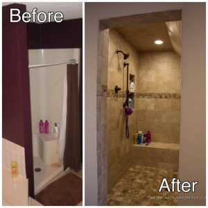Ceramic Tile Shower Remodeling