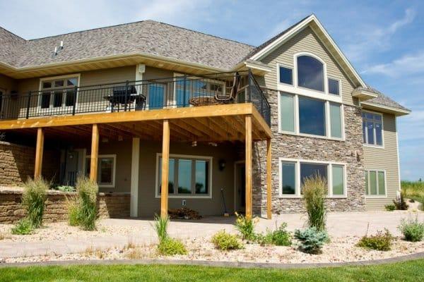 New home exterior deck