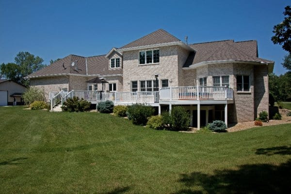 Custom Home with deck