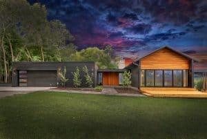 Custom Luxury Home Night Sky