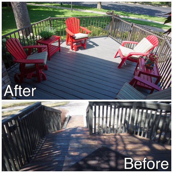 New Decking Before and After St Cloud MN