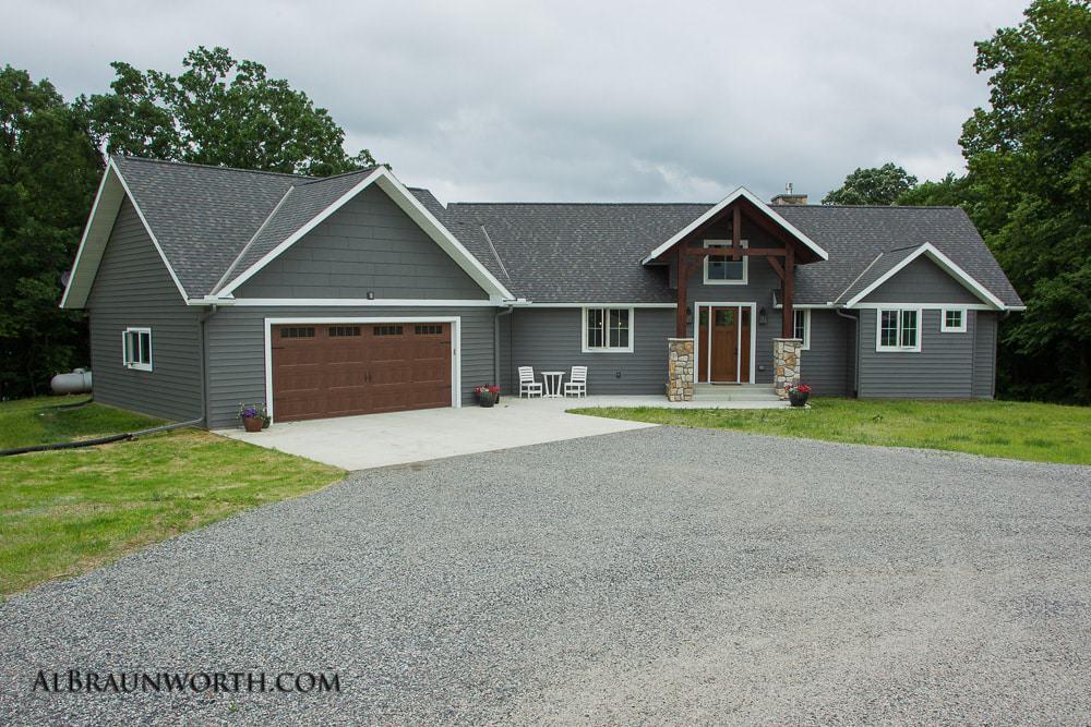 Custom Built Home Exterior