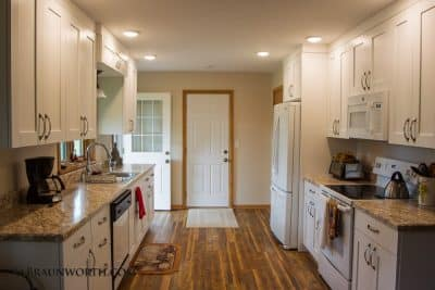 Small Space Kitchen Remodel by Schoenberg Construction