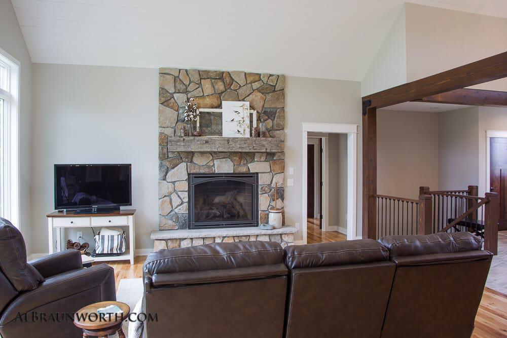 Custom Built Home Living Room Fireplace