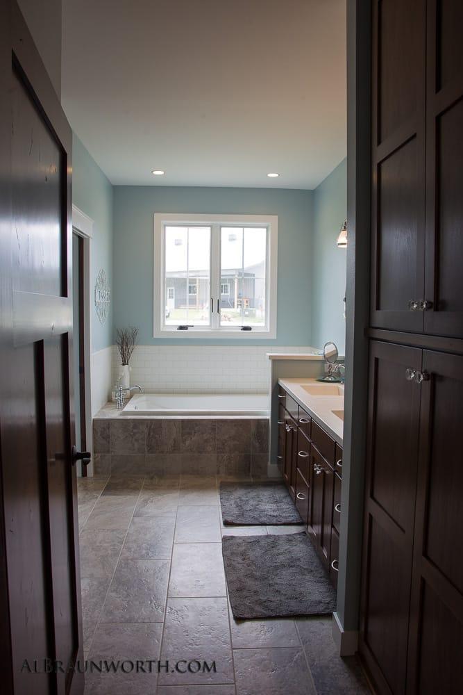 Custom Built Home Master Bath with tub