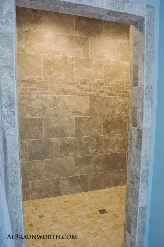 Custom Built Home Walk In Shower