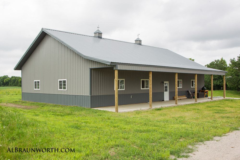 Custom Built Home Shed with Overhang