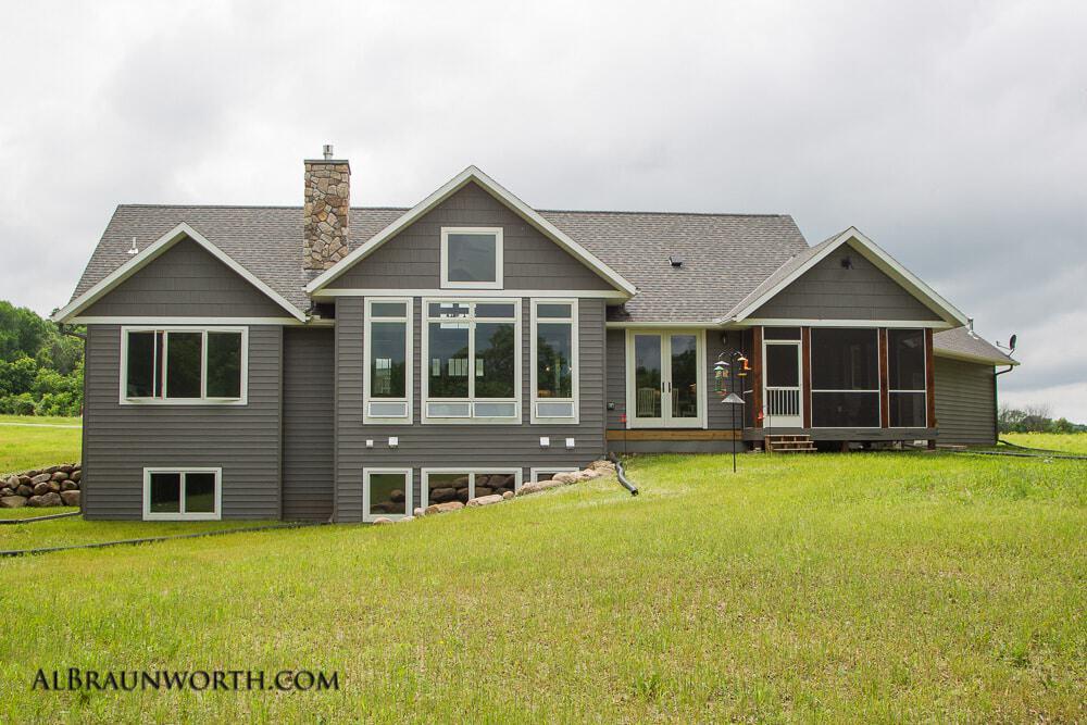 Custom Built Home Backyard