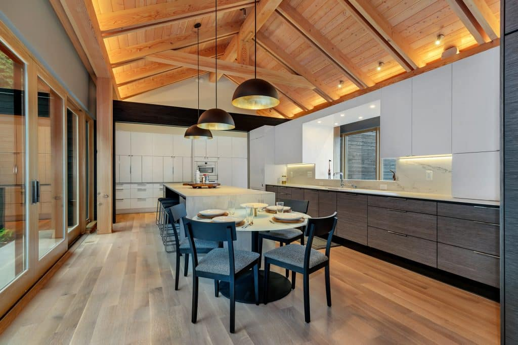 2018 Tour of Homes Kitchen Lighting with Vaulted Ceiling